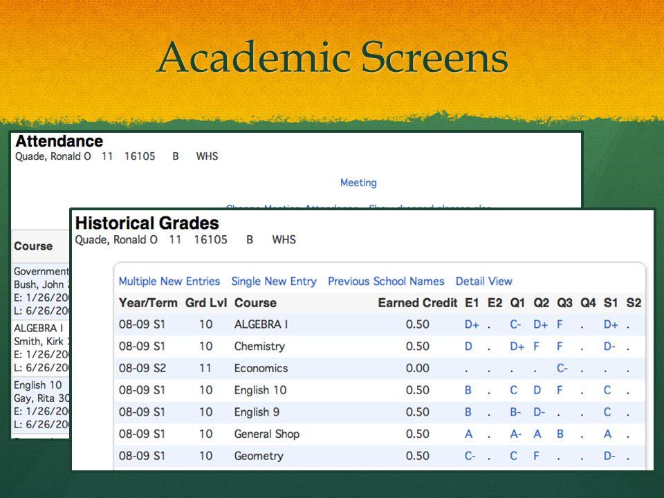 Academic Screens