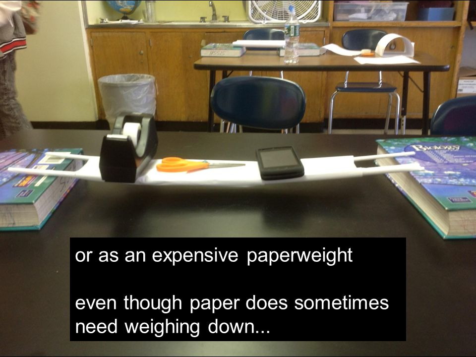 or as an expensive paperweight even though paper does sometimes need weighing down...