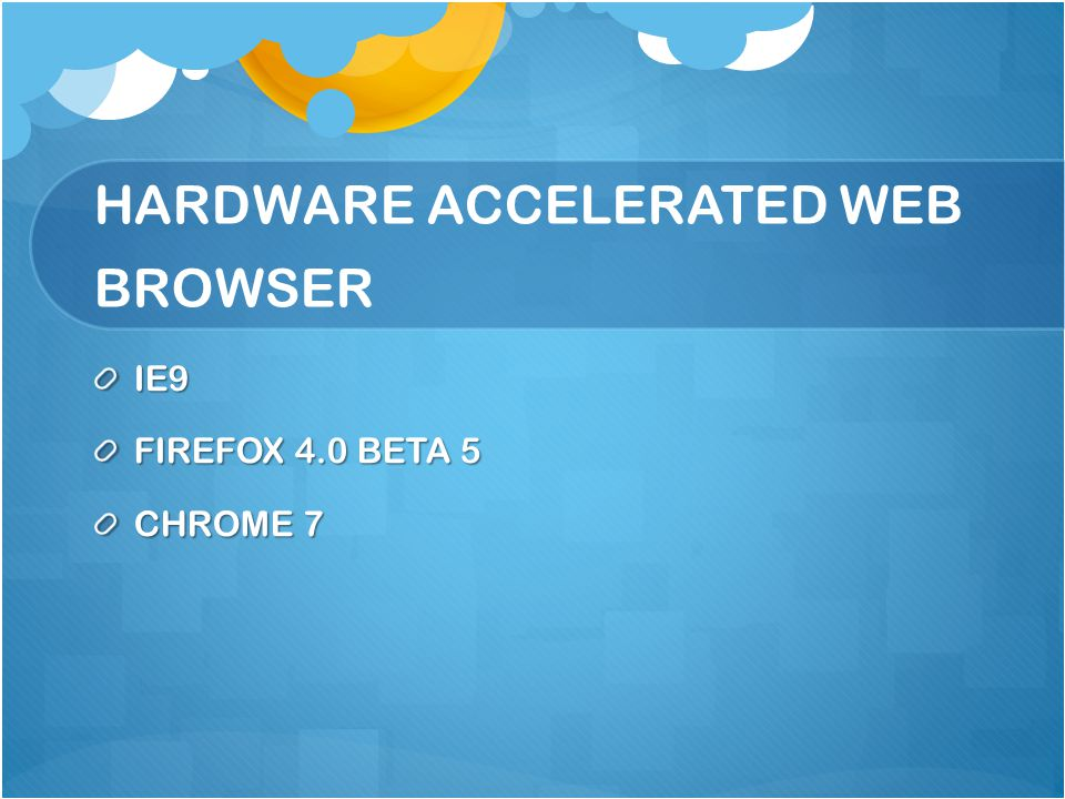 IE 9 Microsoft has released Internet Explorer 9 platform, the latest pre-release version of the company's next web browser This version of IE9 features expanded support for specific HTML5 elements that can take advantage of the browser's new hardware- acceleration abilities.