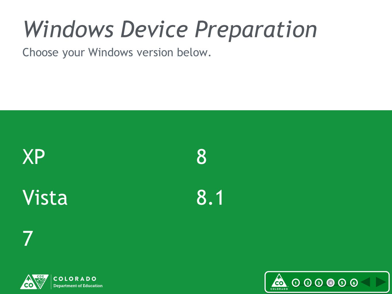 Windows Device Preparation XP Vista 7 8 8.1 Choose your Windows version below.