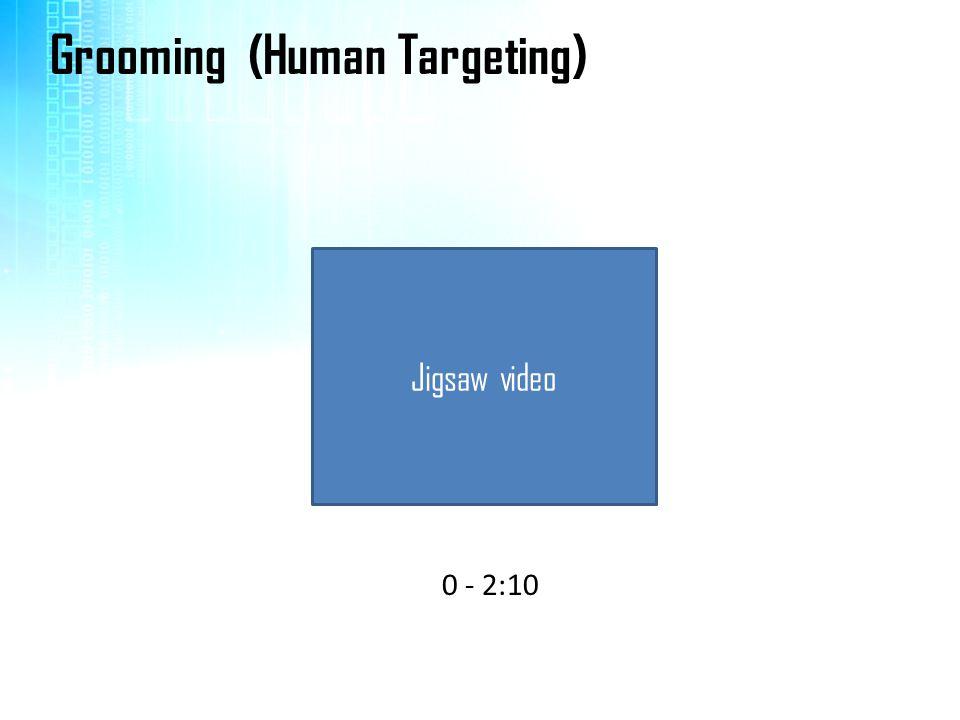 Jigsaw video Grooming (Human Targeting) 0 - 2:10