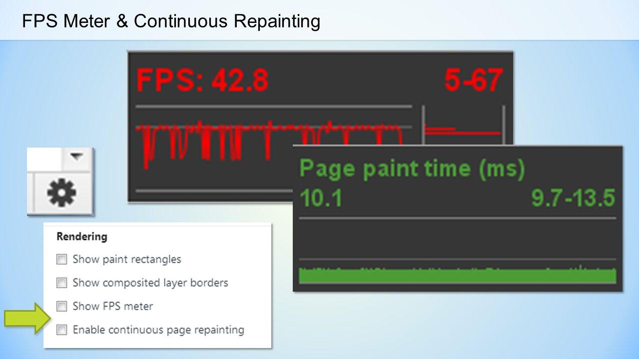 FPS Meter & Continuous Repainting