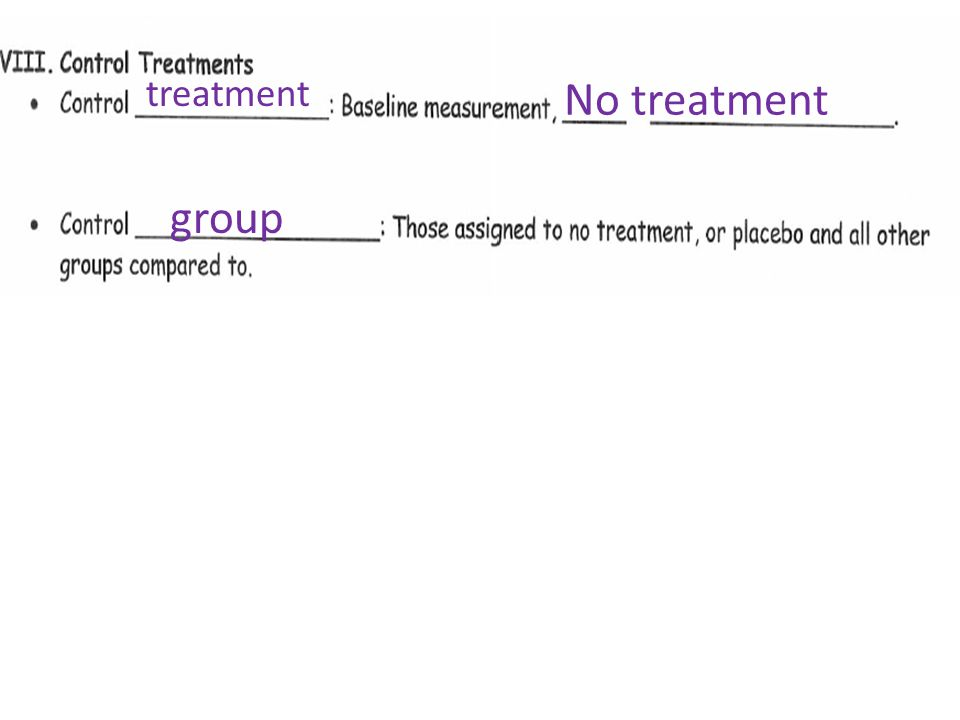 treatment No treatment group