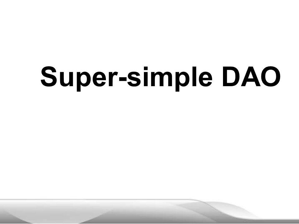 Super-simple DAO