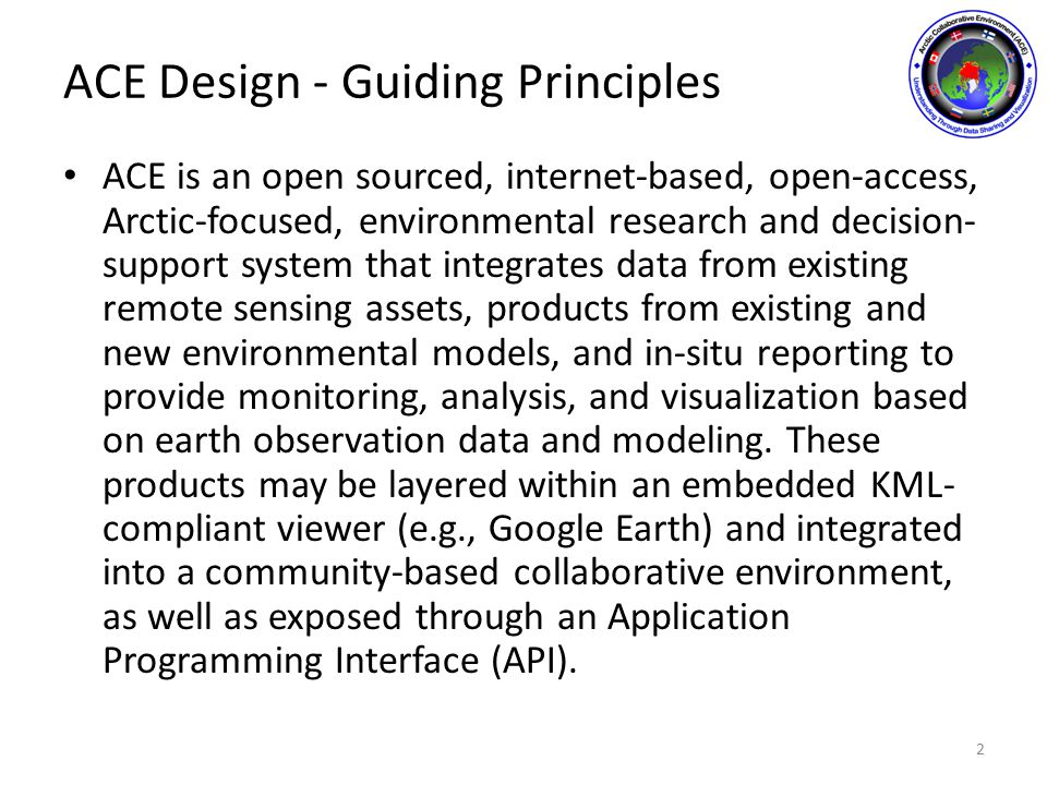ACE Capabilities Derivation 3 Critical Operating Issues ACE Future Capabilities ACE Current Capabilities Capabilities Specifications ACE Project Objectives Science Working Group Initial User Requirements Group Academic Support Group