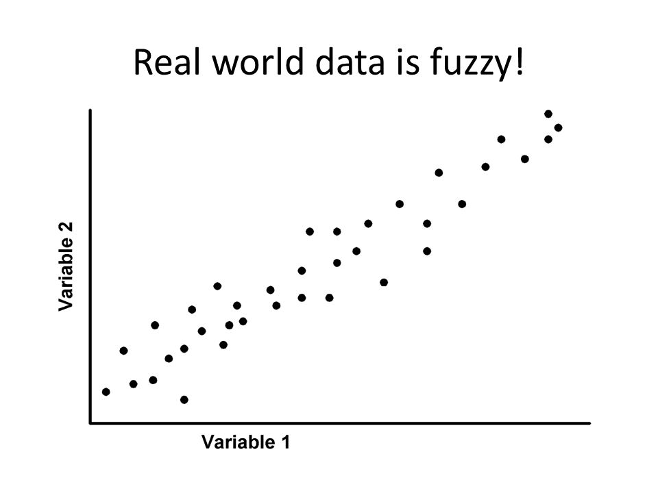 Real world data is fuzzy!