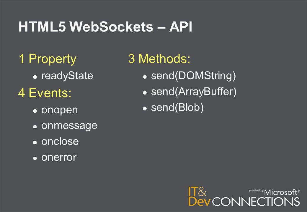 HTML5 Web Storage localStorage: ● length ● key(index) ● setItem(key, string) ● getItem(key) ● removeItem(key) ● clear()