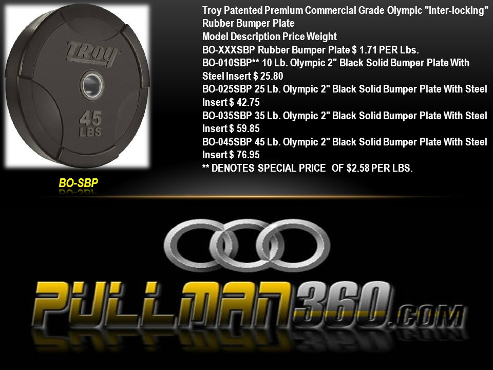 5' Olympic Bar Item SKU: GOB-60B Product Dimensions: Product/Shipping Weight: 29lbs.