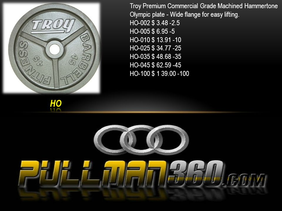 Troy Premium Commercial Grade Machined Black Olympic plate - Wide flange for easy lifting.