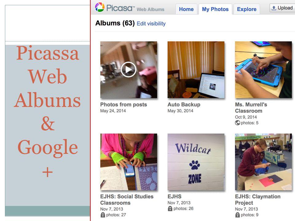 Picassa Web Albums & Google + 16