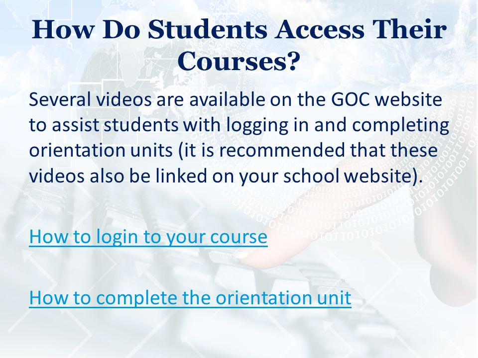 How Do Students Access Their Courses.