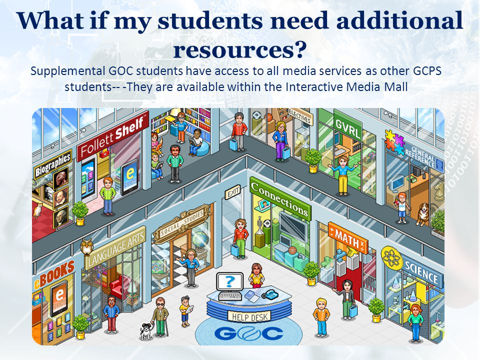 What if my students need additional resources.