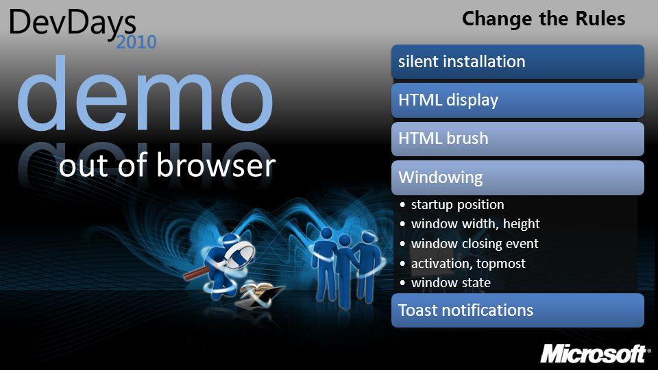 Change the Rules out of browser silent installationHTML displayHTML brushWindowing startup position window width, height window closing event activati