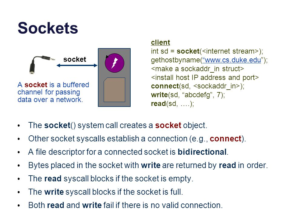 Packet demultiplexing Kernel network stack demultiplexes incoming network traffic: choose process/socket to receive it based on destination port.