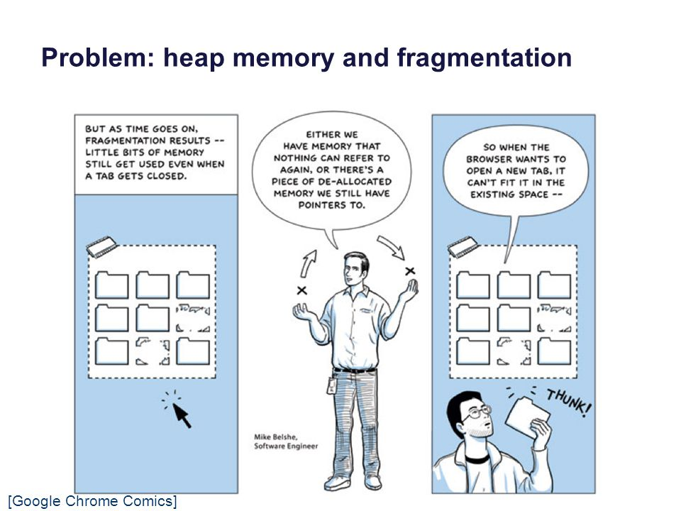 Problem: heap memory and fragmentation [Google Chrome Comics]