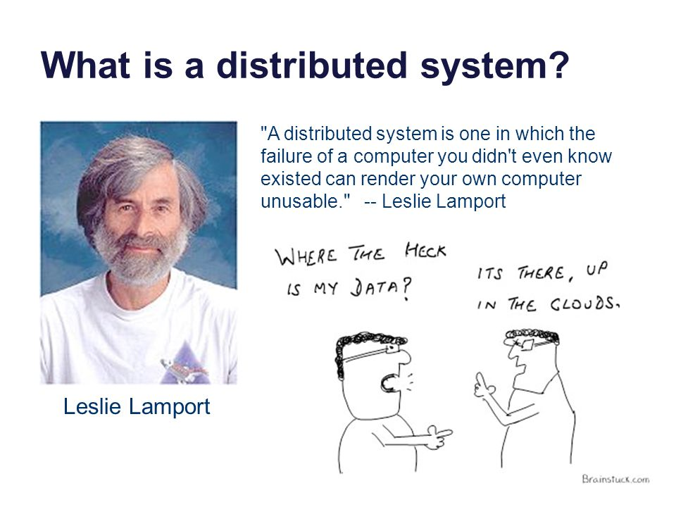 What is a distributed system.