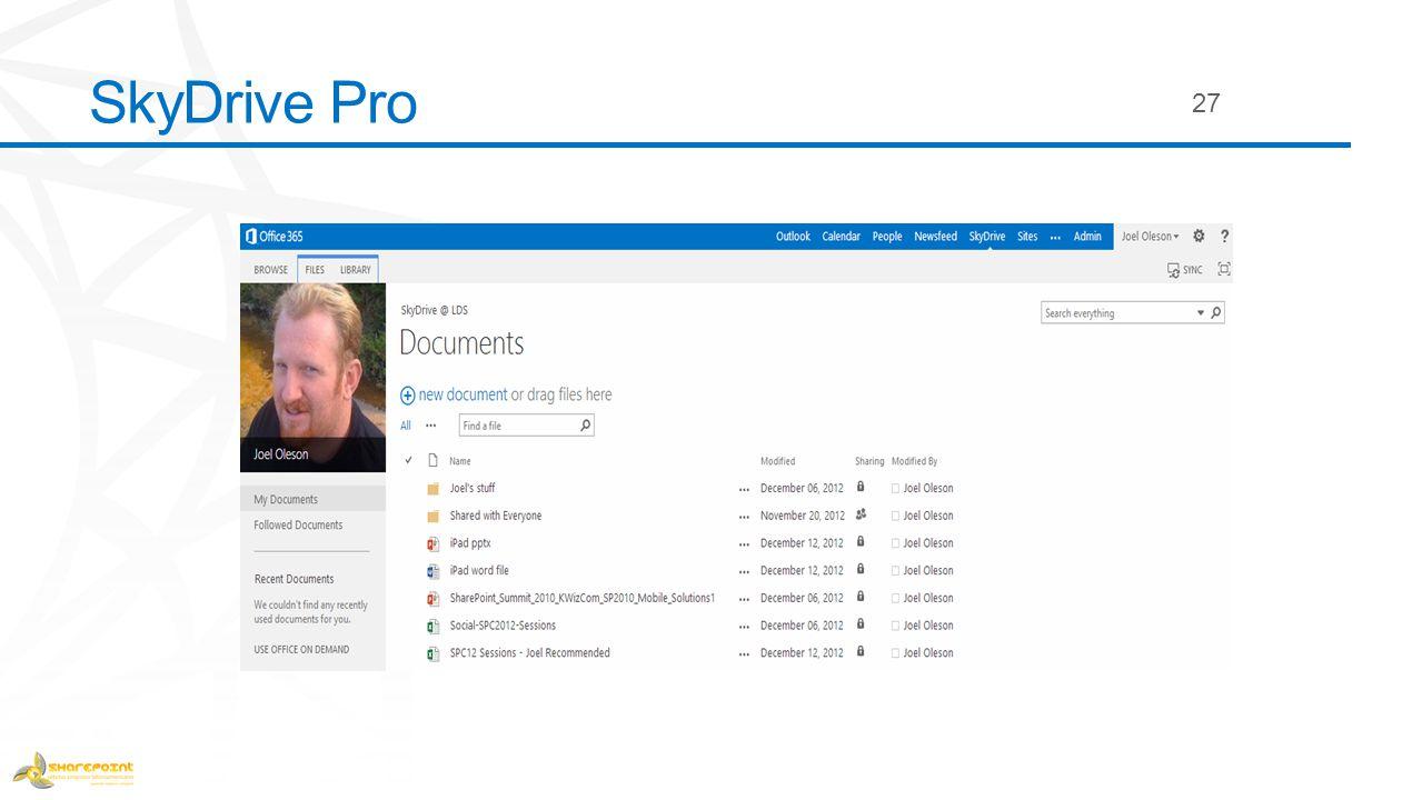 SkyDrive Pro 27