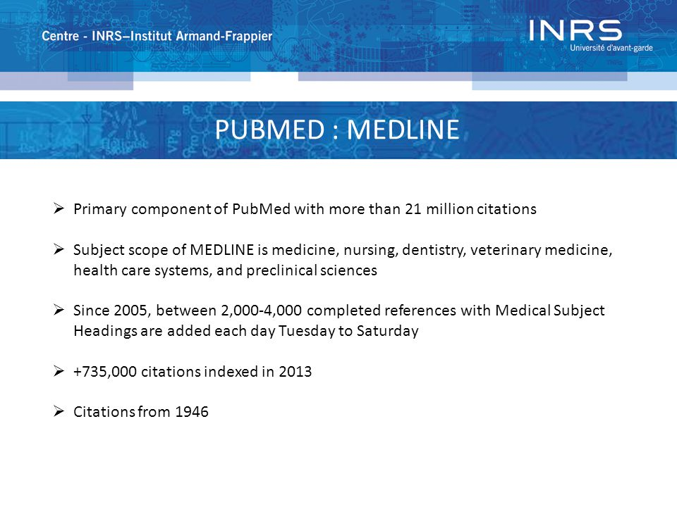 PUBMED : ADVANCED RESEARCH 1 2 3 4 Make selection of desired expressions­