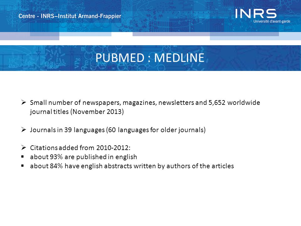 PUBMED : HISTORY