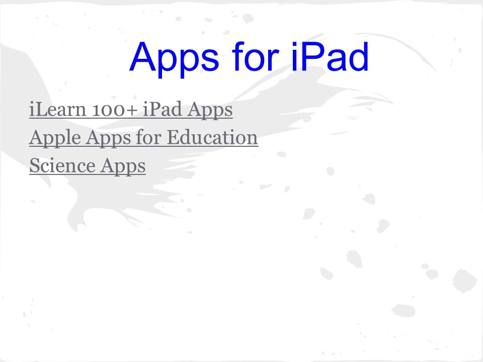 Apps for iPad iLearn 100+ iPad Apps Apple Apps for Education Science Apps