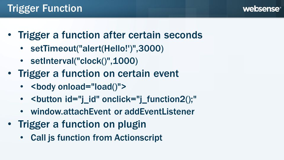 Trigger a function after certain seconds setTimeout(