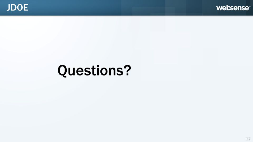 Questions 37 JDOE