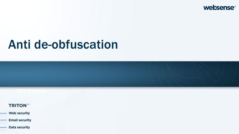 JDOE Prototype Anti de-obfuscation