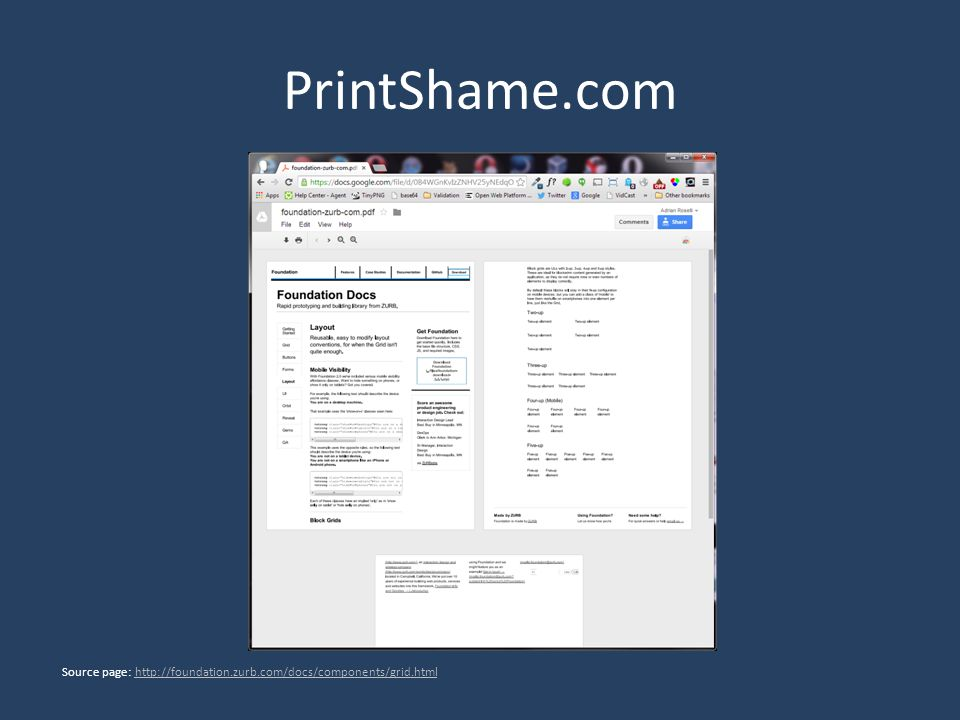 PrintShame.com Source page: http://foundation.zurb.com/docs/components/grid.htmlhttp://foundation.zurb.com/docs/components/grid.html