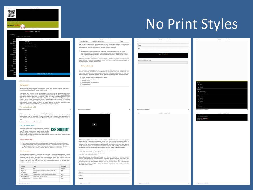 No Print Styles
