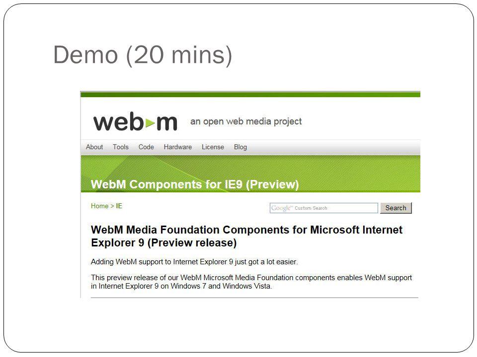 Demo (20 mins)