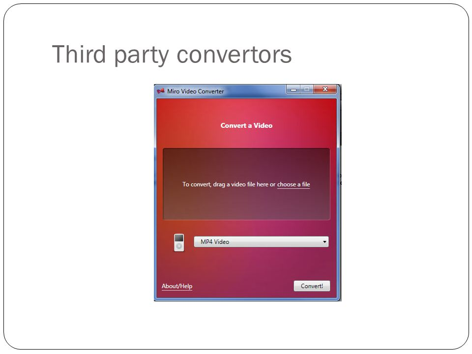 Third party convertors