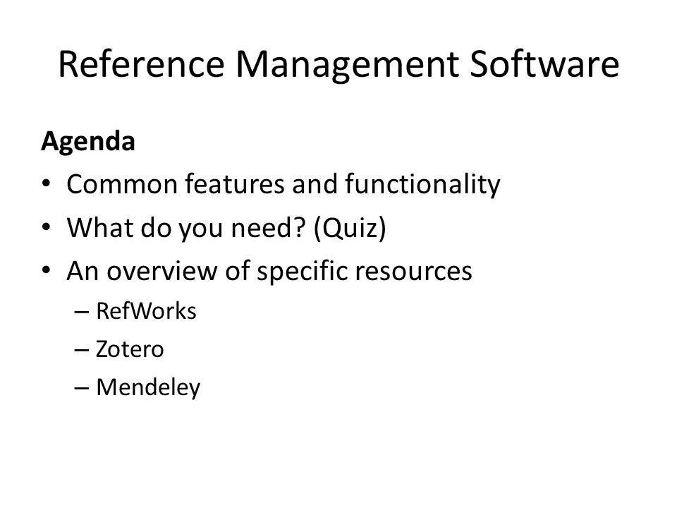 Mendeley Web interface:
