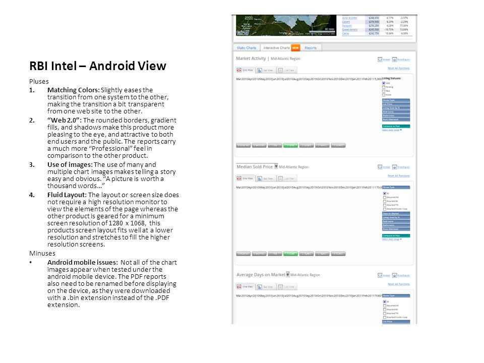 RBI Intel – Android View Pluses 1.Matching Colors: Slightly eases the transition from one system to the other, making the transition a bit transparent from one web site to the other.
