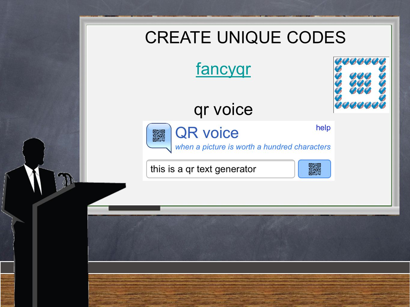 fancyqr qr voice CREATE UNIQUE CODES