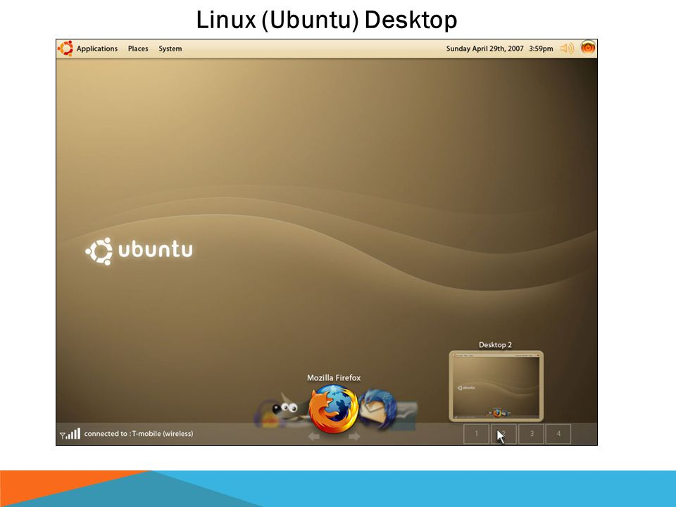 Computer basics Linux (Ubuntu) Desktop