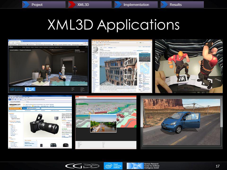 XML3D Applications 17 ProjectXML3DImplementationResults