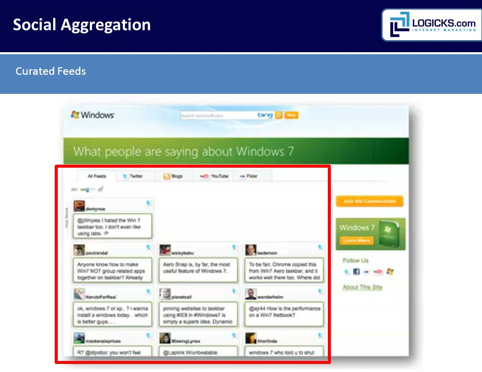 Curated Feeds Social Aggregation