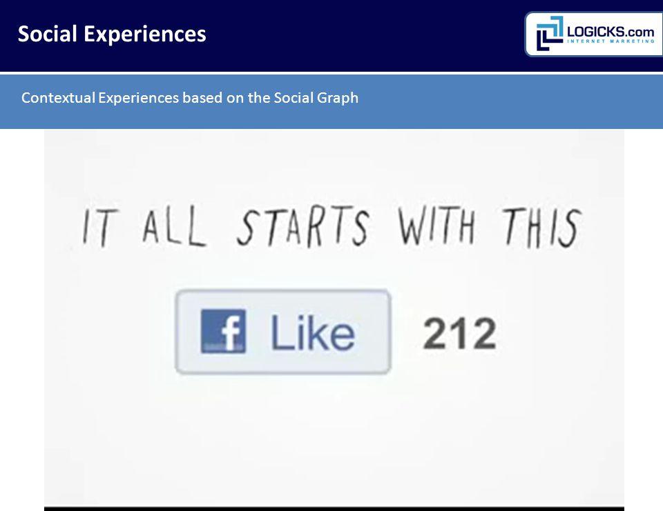Social Experiences Contextual Experiences based on the Social Graph