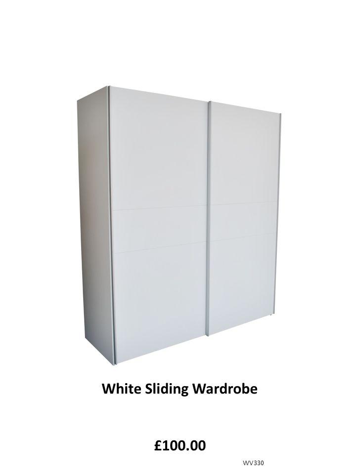 White Sliding Wardrobe £100.00 WV330