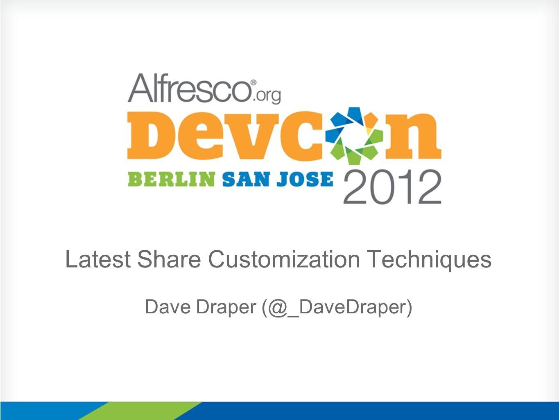 Latest Share Customization Techniques Dave Draper (@_DaveDraper)