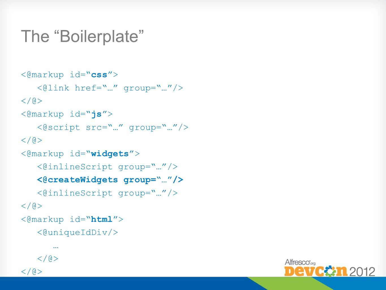The Boilerplate …