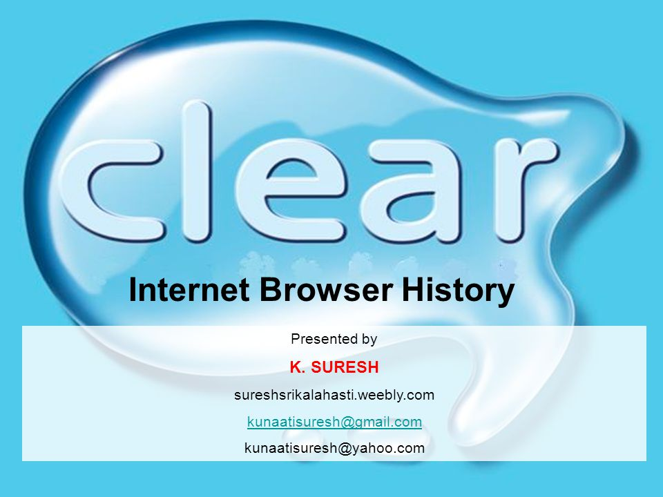 Internet Browser History Presented by K.