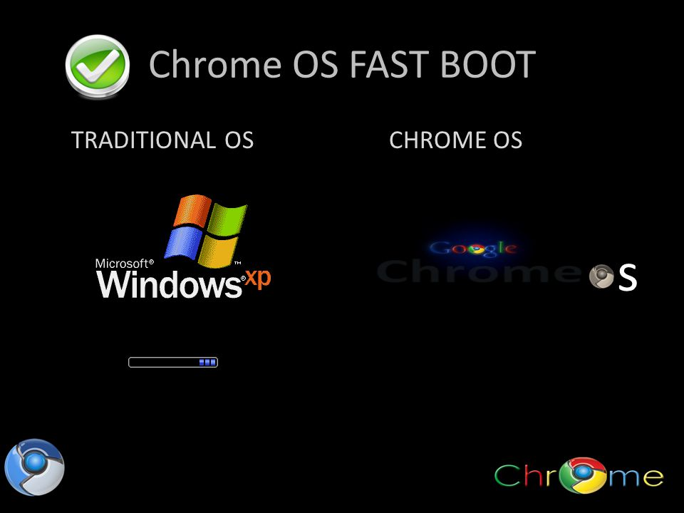 Chrome OS FAST BOOT TRADITIONAL OSCHROME OS s