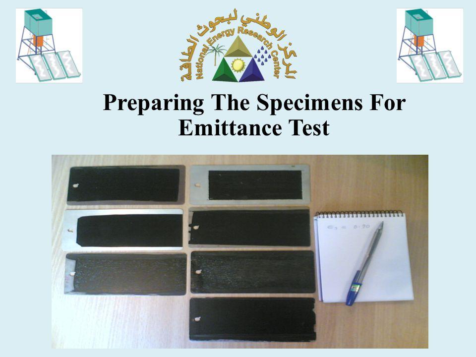 Emittance Test of the Specimens Using Emissometer