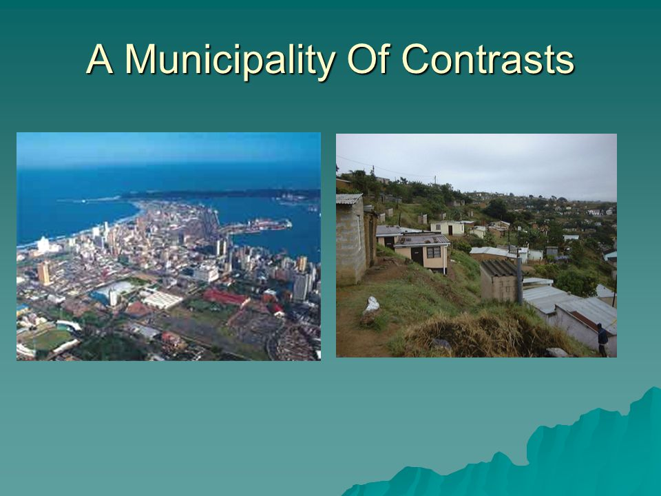 A Municipality Of Contrasts