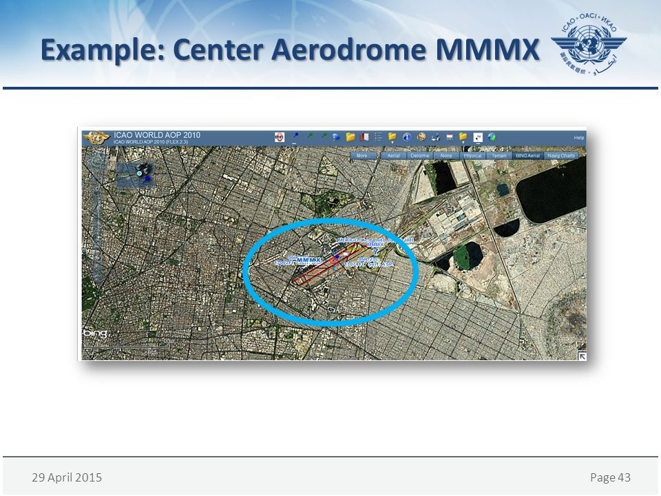 29 April 2015Page 43 Example: Center Aerodrome MMMX