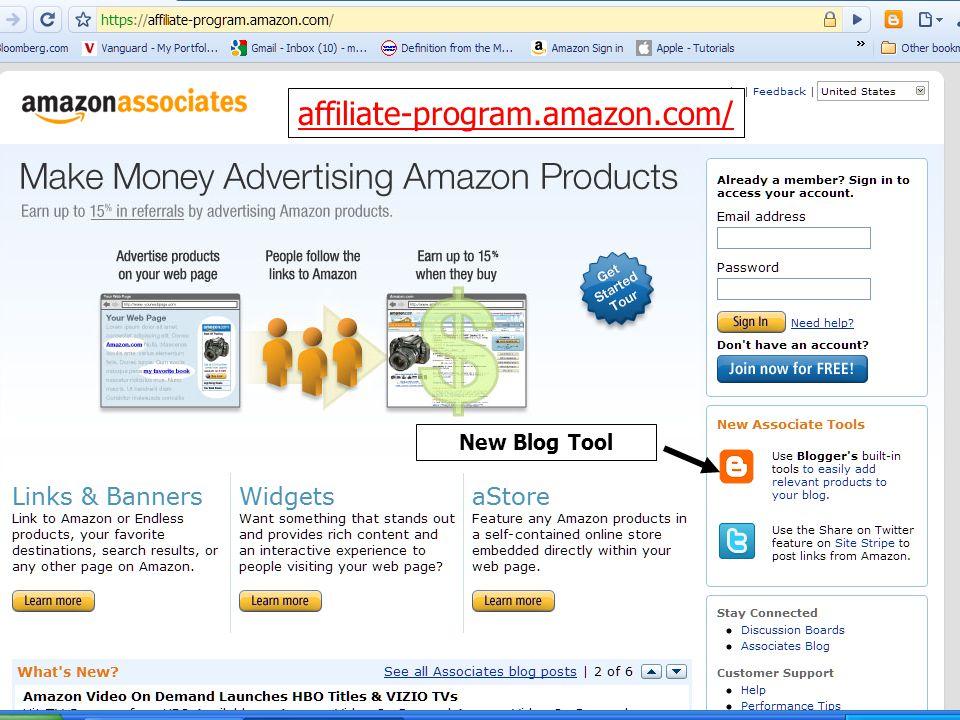 affiliate-program.amazon.com/ New Blog Tool