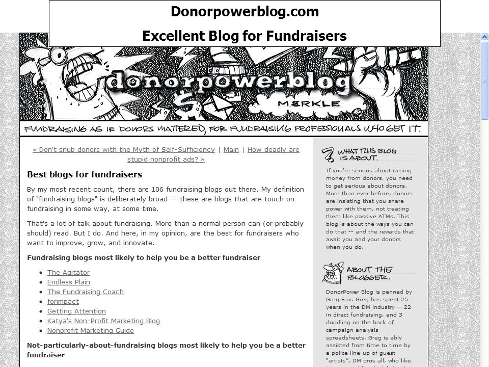 Donorpowerblog.com Excellent Blog for Fundraisers