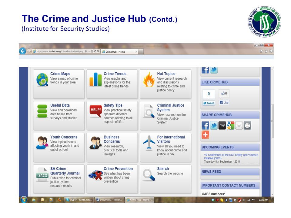 The Crime and Justice Hub (Contd.) (Institute for Security Studies)