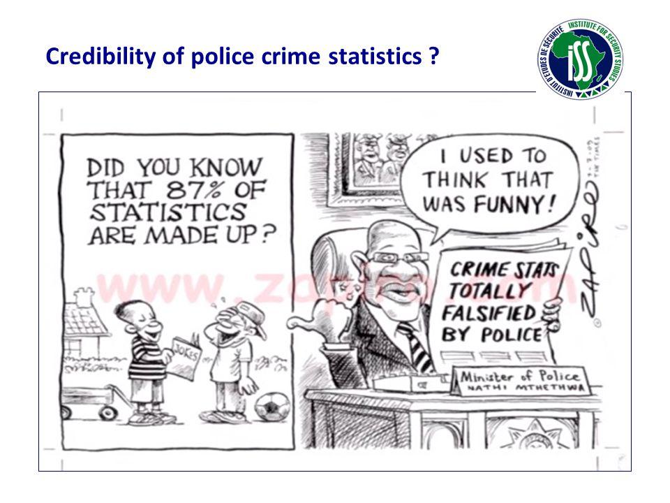Credibility of police crime statistics